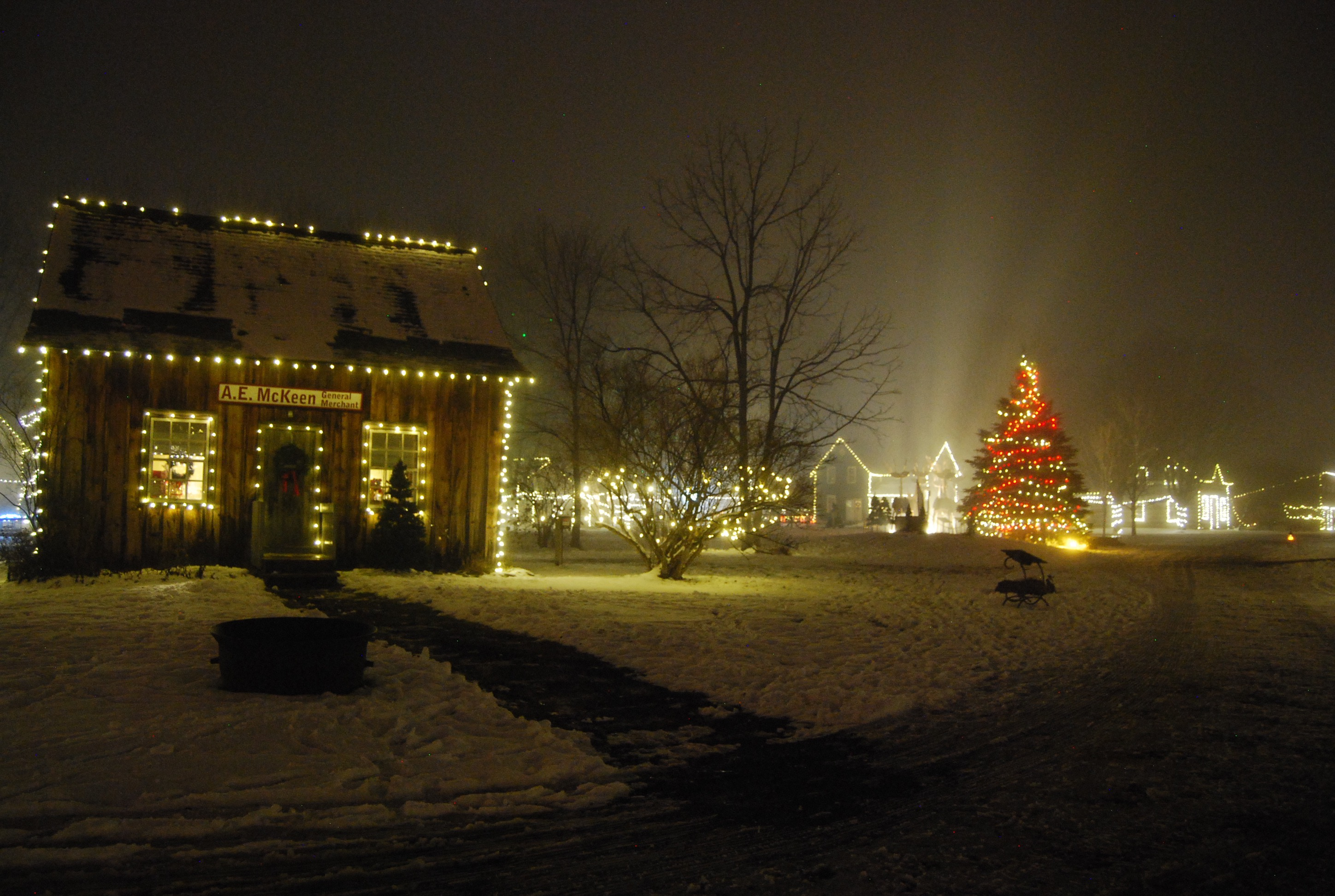 White Lights A Horse Drawn Wagon Carollers Singing And Telegraph Messages To Santa Are Just Some Of What The Berland Heritage Village Museum